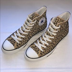 LAST ONE!! New Converse CTAS Hi Leopard Sneakers
